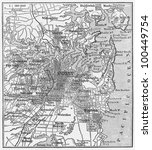 vintage map of sydney at the... | Shutterstock . vector #100449754