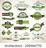 organic and genuine product...   Shutterstock .eps vector #100466770