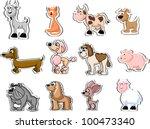 set of animals | Shutterstock .eps vector #100473340