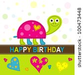 template greeting card  vector... | Shutterstock .eps vector #100473448