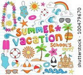 summer vacation hawaiian... | Shutterstock .eps vector #100479670