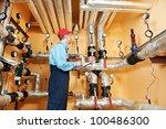 maintenance repairman engineer... | Shutterstock . vector #100486300