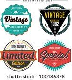 retro banner collection | Shutterstock .eps vector #100486378