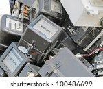 broken counters electricity... | Shutterstock . vector #100486699