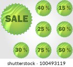 stickers set with sale   Shutterstock .eps vector #100493119