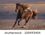 Running Horse With Streamed...