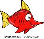 Tough Mean Swordfish Vector Illustration Art - stock vector