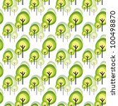 abstract green tree seamless... | Shutterstock .eps vector #100498870