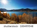 autumn lake - stock photo