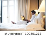 Stock photo asian business man in room 100501213