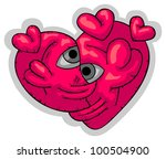 red shape of heart created out... | Shutterstock .eps vector #100504900