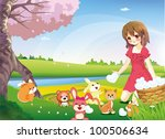 sharing true love to the world. ... | Shutterstock .eps vector #100506634
