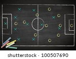 soccer game strategy drawn with ... | Shutterstock . vector #100507690