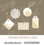 collection of cute vintage... | Shutterstock .eps vector #100508980