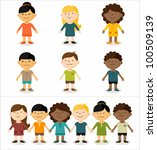 vector illustration   cute... | Shutterstock .eps vector #100509139