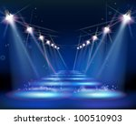 way at night. vector... | Shutterstock .eps vector #100510903