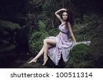sensual woman in nature scenery | Shutterstock . vector #100511314