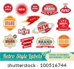 vintage retro labels and tags.... | Shutterstock .eps vector #100516744