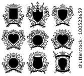 coat of arms set. vector...   Shutterstock .eps vector #100523659