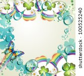 clover with drops of water over ...   Shutterstock . vector #100525240