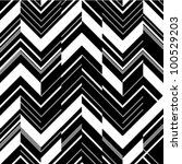 Pattern In Zigzag   Black And...
