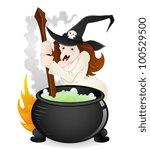 halloween witch vector | Shutterstock .eps vector #100529500