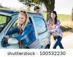 vehicle breakdown young people... | Shutterstock . vector #100532230
