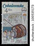 czech republic   circa 1980  a... | Shutterstock . vector #100535173