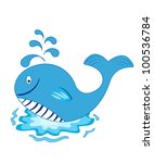 whale cartoon. isolated image... | Shutterstock .eps vector #100536784