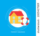 house insurance concept  real... | Shutterstock .eps vector #1005427009