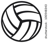 volleyball ball | Shutterstock . vector #100548343