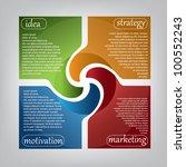modern presentation banner | Shutterstock .eps vector #100552243