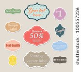 vintage design label set | Shutterstock .eps vector #100557226