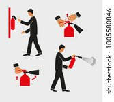 extinguisher instructions.... | Shutterstock .eps vector #1005580846