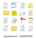 files and folders icon set | Shutterstock .eps vector #100559530
