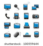gadget icons | Shutterstock .eps vector #100559644