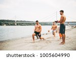 group young attractive people... | Shutterstock . vector #1005604990