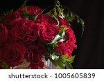 Flower Arrangement Of Red Roses ...