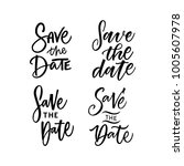save the date lettering | Shutterstock .eps vector #1005607978