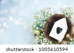 happy easter greeting card. | Shutterstock . vector #1005610594