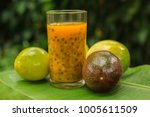 Passion Fruits Half And Juice...