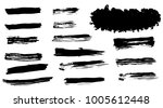 grunge vector brush strokes | Shutterstock .eps vector #1005612448
