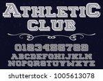vintage font typeface... | Shutterstock .eps vector #1005613078