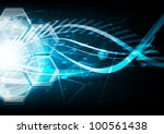 vector blue extreme explosion... | Shutterstock .eps vector #100561438