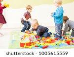 games at the kindergarten   Shutterstock . vector #1005615559