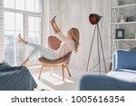 modern technologies make her... | Shutterstock . vector #1005616354