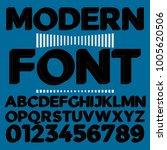 3d font typeface alphabet... | Shutterstock .eps vector #1005620506
