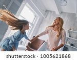 happy to be together. mother... | Shutterstock . vector #1005621868