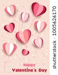 valentine's day. beautiful... | Shutterstock .eps vector #1005626170