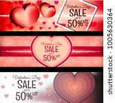 three banners for valentine's... | Shutterstock .eps vector #1005630364